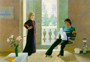 'Mr and Mrs Clark and Percy' by David Hockney, 1971