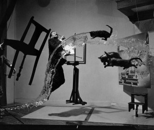 'Dali Atomicus' by Philippe Halsman in collaboration with Salvador Dali, 1948
