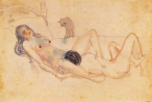 'Two nudes and a cat' by Pablo Picasso, 1903