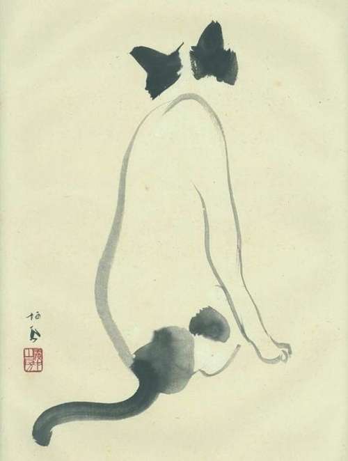 'Cat' by Takeuchi Seihō (1864-1942)